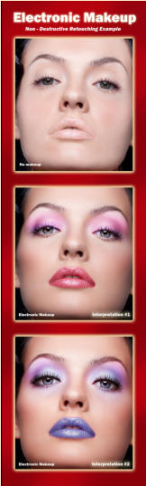 Digital makeup for Photoshop eye makeup, lip makeup, face smoothing, skin pores
